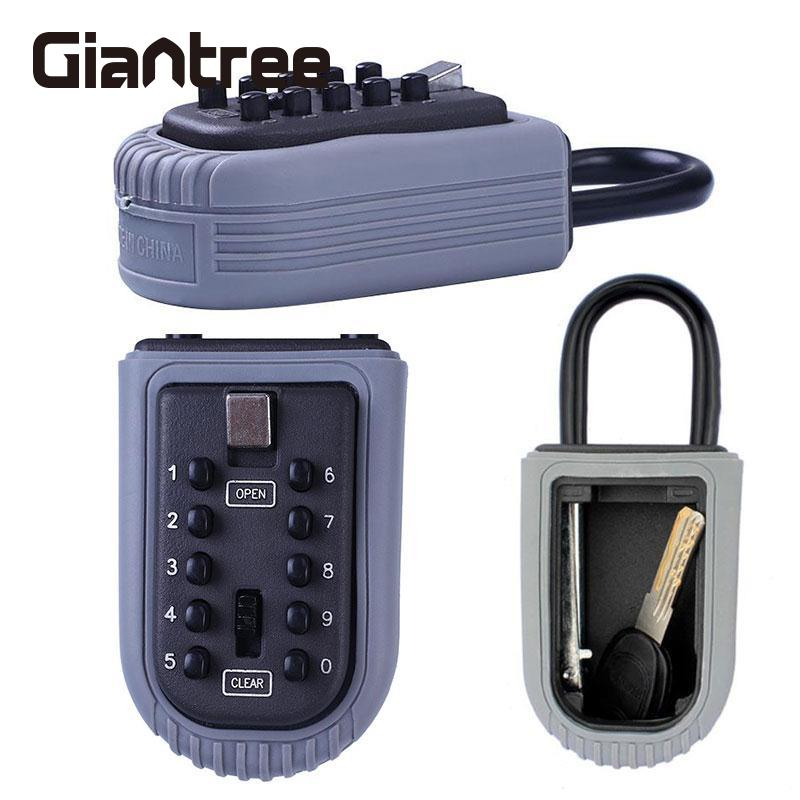giantree 4 Digit Combination Security Lock Code Password Safety Key Lockbox for Realtor wall mount key storage lock key safe box 10 digit combination password