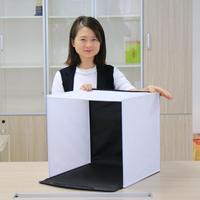 2018 New Arrival 40cm LED Light Room Photo Studio Photography Shooting Tent Kit Backdrop Cube Box