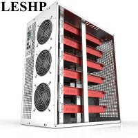 LESHP 6/8 GPU Vertical Type Graphics Server Chassis MicroATX/ITX/ATX 4U Mining Machine Chassis With Dual Power Supply Design