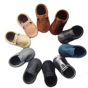 2019 noworodka prawdziwej skóry mokasyny dziecięce buty dziewczyny najpierw Walker dzieci chłopców buty schoenen