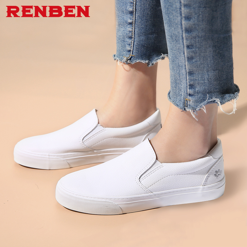 2018 Autumn Women PU Leather Loafers Fashion ballet flats white black Shoes Woman Slip On loafers boat shoes Moccasins chic glitter shoes women loafers black silver lace up bowknot casual ballet flats slip on rhinestone sneakers sequins moccasins