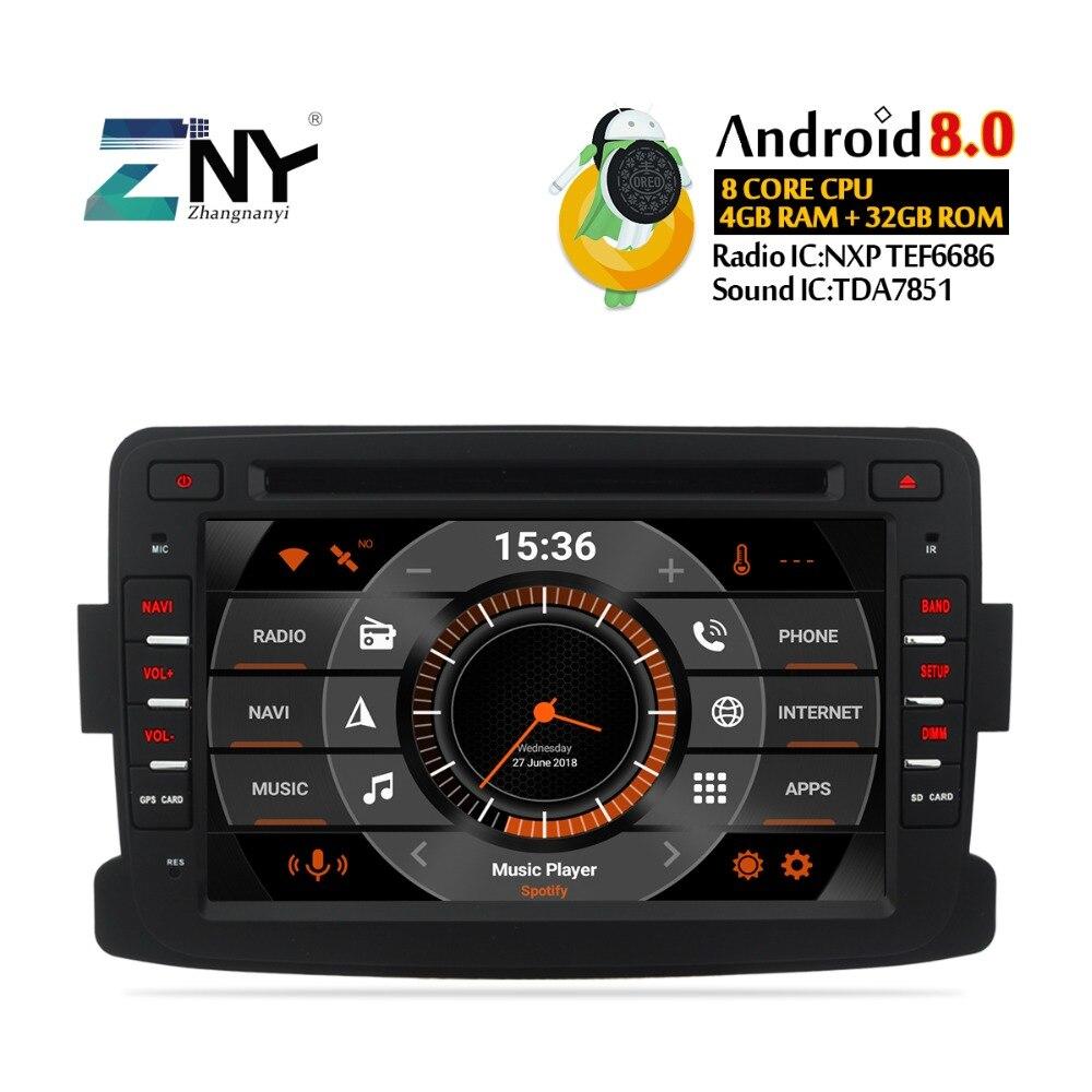 7 IPS Auto Radio Android 9.0 For Duster Sandero Logan Dokker Captur Lada Xray 2 Car DVD Navigation GPS Multimedia Backup Camera