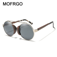 ca0e060d754d MOFRGO Western Style Wooden Sunglasses Retro Classic For Men Polarized  Sunglasses