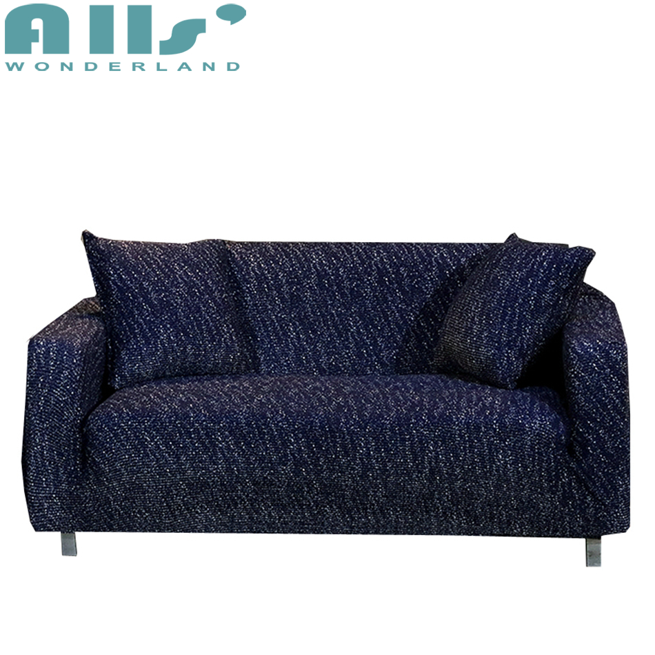 Deep Blue Solid Color Universal Stretch Furniture Covers