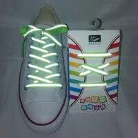1 paire 3M chaussures réfléchissantes dentelle plat sport lacets Fluorescent Sneaker Shoestrings course lacet pour adulte longueur 120cm