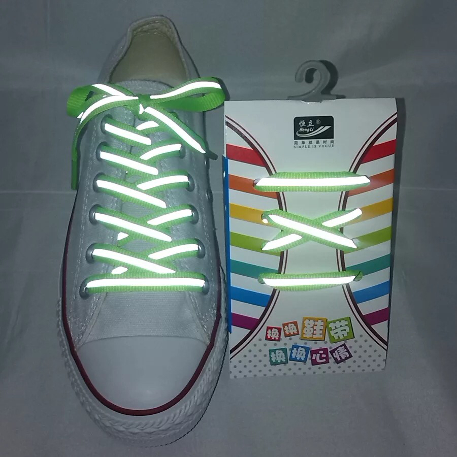 1Pair 3M Reflective Shoes lace Flat Sports Shoelaces Fluorescent Sneaker Shoestrings Running Shoelace For Adult Length 120cm1Pair 3M Reflective Shoes lace Flat Sports Shoelaces Fluorescent Sneaker Shoestrings Running Shoelace For Adult Length 120cm
