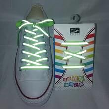 1 пара 3M отражательный плоский шнурки туфли шнурки спортивные шнурки шнурки люминесцентные тапки бег для взрослый длина 120см