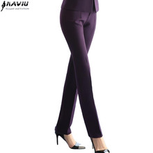 formal Women trousers plus size autumn winter office ladies solid color Mid waist