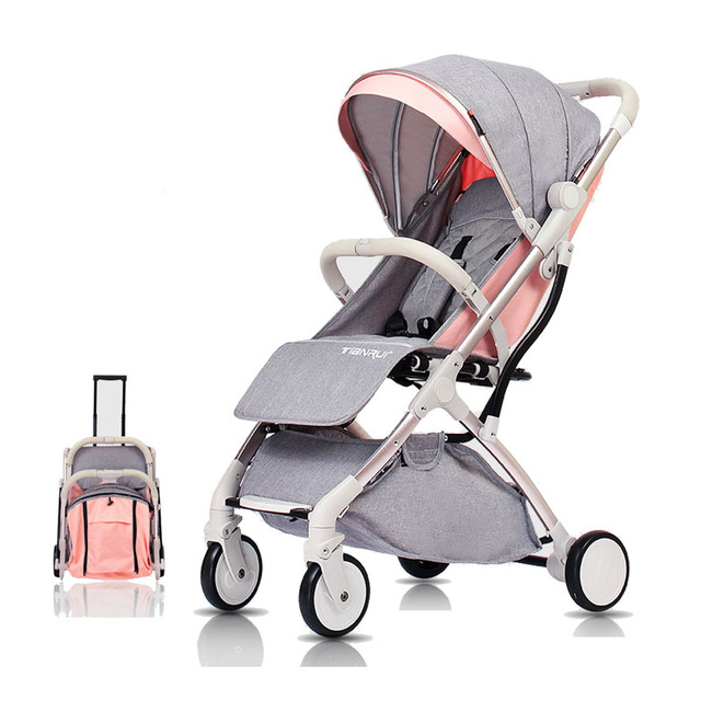 Tianrui Lightweight Portable Folding One key operation Baby Stroller