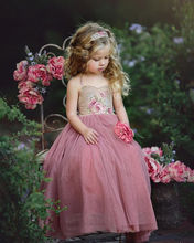 Baby Girls Backless Floral Floor Length Vintage Maxi Dress Tulle for Wedding Party Birthday elegant Dresses little girl clothes