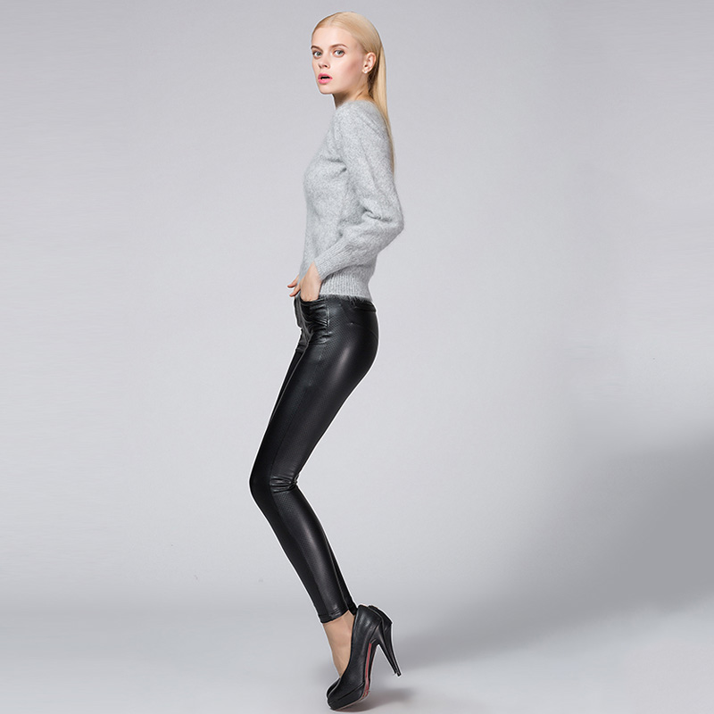 Cool Womens Black Punk Rock Faux Leather Clothing Tight Pants  Hot Pants