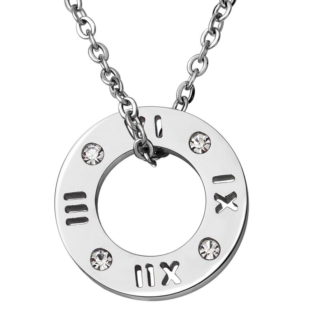 Collar de cristal de acero inoxidable 316L de tres colores de moda - Bisutería - foto 4