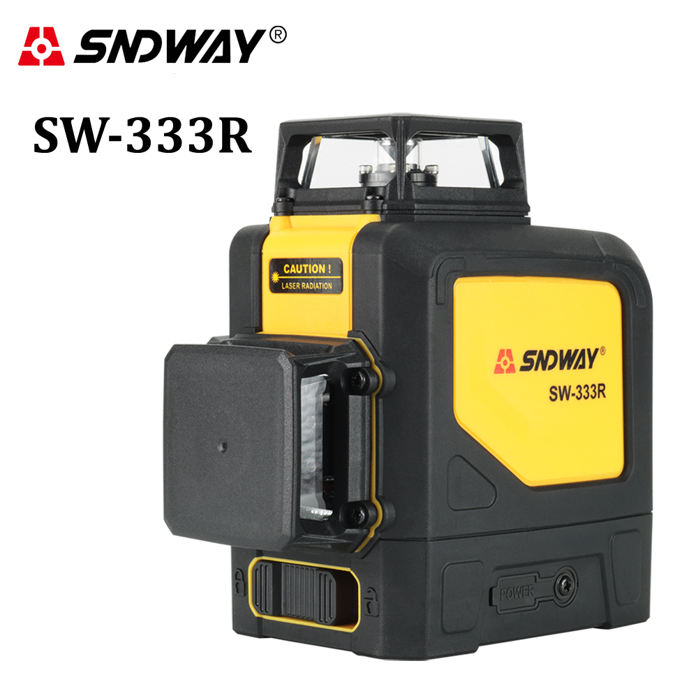 SNDWAY Rotary Laser Level 3D 12 Lines 360 Green Red Beam Self Leveling Horizon Vertical Cross