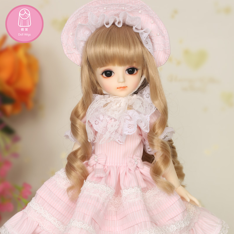 Wig For BJD Doll 1/6 6-7 inch High Temperature Wig Curly WigsGirl Long Curly Hair BJD Doll Wig For NAPI AI Potato Free Shipping wig for bjd doll 7 8 inch doll accessories high temperature wig 1 4 bjd doll long hairstyle l4 02 1bcolor lovely hair delicate
