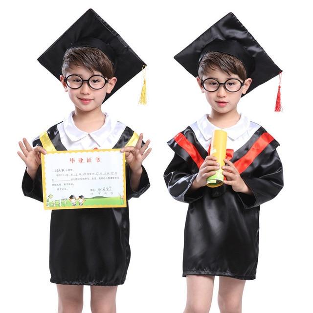 Children Halloween Cosplay Costume Kids Graduation Gown Student ...