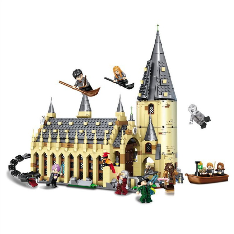 926PCS Harry Movie Potter Sets 16052 Compatible With  Model Building Kits Castle Hall Blocks Toys 75954 JP39144(China)