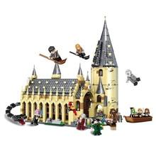 926 шт. Гарри, кино Поттер наборы 16052 совместимы с Legoing модель строительные наборы замок зал блоки игрушки 75954 JP39144