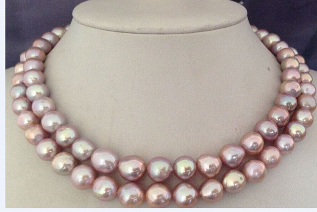 34inch 9-10MM natural lavender freshwater pearl necklace34inch 9-10MM natural lavender freshwater pearl necklace