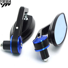 Motorcycle mirrors bar end mirror Rear view Motor handlebar for TRIUMRH 675 STREET TRIPLE R/RX MT07