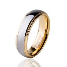 6 ММ Золотой Цвет Карбида Вольфрама Обручальное Кольцо Comfort Fit Обручальное Ювелирные Изделия Для Мужчин Anillos