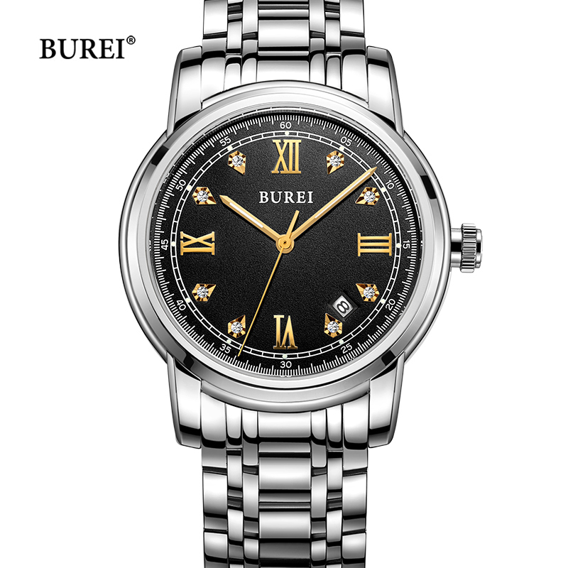 BUREI Mechanical Watches Men Waterproof Business Sapphire Crystal Automatic Wrist Watch Dress Date Clock Saat Relogio Masculino casima brand week date mechanical watch men sapphire crystal business automatic wrist watch waterproof clock relogio masculino
