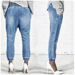 Женские уличные модные популярные брюки до колен супер мягкие джинсовые брюки с эластичной резинкой на талии стильные брюки с крестиками