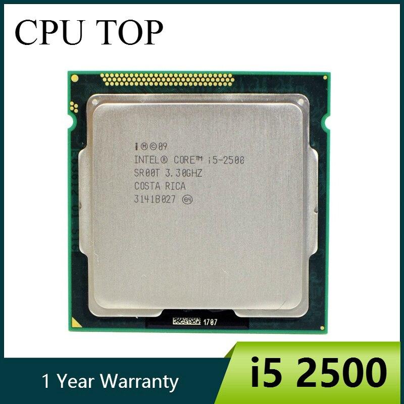 Процессор Intel Core i5 2500 3,3 ГГц 6M 5.0gt/s SR00T четырехъядерный процессор для настольных компьютеров
