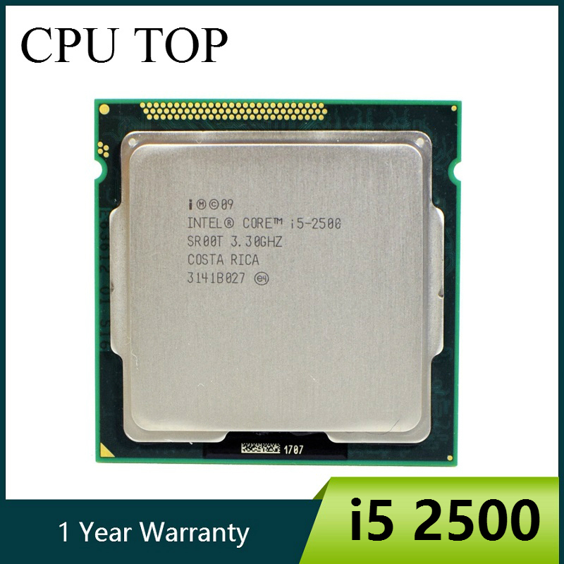 Intel core i5 quad-core, 2500 3.3ghz 6m 5. 0gt/s sr00t cpu processador de mesa