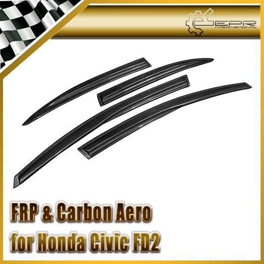 Nuevo estilo del coche para honda civic 2006 4 puerta fd2r carbon fiber deflector de viento