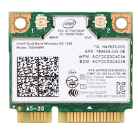 Dual Band 867Mbps Wireless Wifi Network Card For Intel 7260 AC 7260HMW Mini PCI E 802
