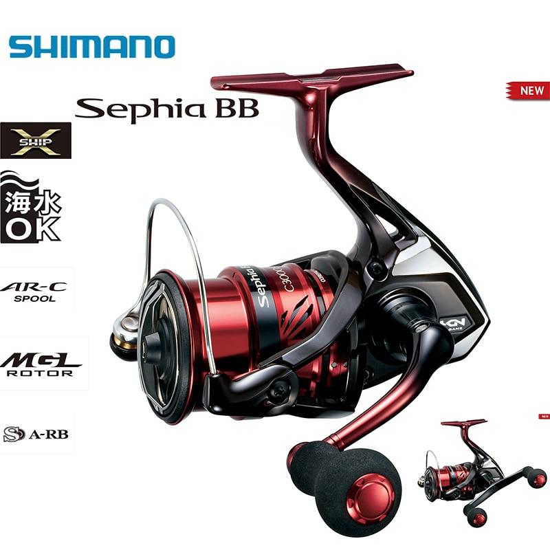 SHIMANO Sephia BB C3000HGS C3000HG SDH C3000S C3000SDH 5 + 1BB X-nave Sistema de engranaje Buck Egi agua salada Luz carrete de pesca