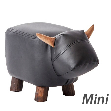 US $55.24 15% OFF|Big Sale!Leather Sofa Ottoman Shoe Stool Pouf Chair Bean  Bag Kid Toys Storage Footstool Solid Wood Nordic Home Deco Furniture-in ...