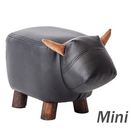 Leather Sofa Ottoman Shoe Stool Pouf Chair Bean Bag Kid Toys Storage Footstool
