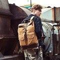 Высококачественный фирменный мужской холщовый рюкзак  Школьный Рюкзак Для Путешествий  подростков  классика  ретро  большие сумки для ноут...