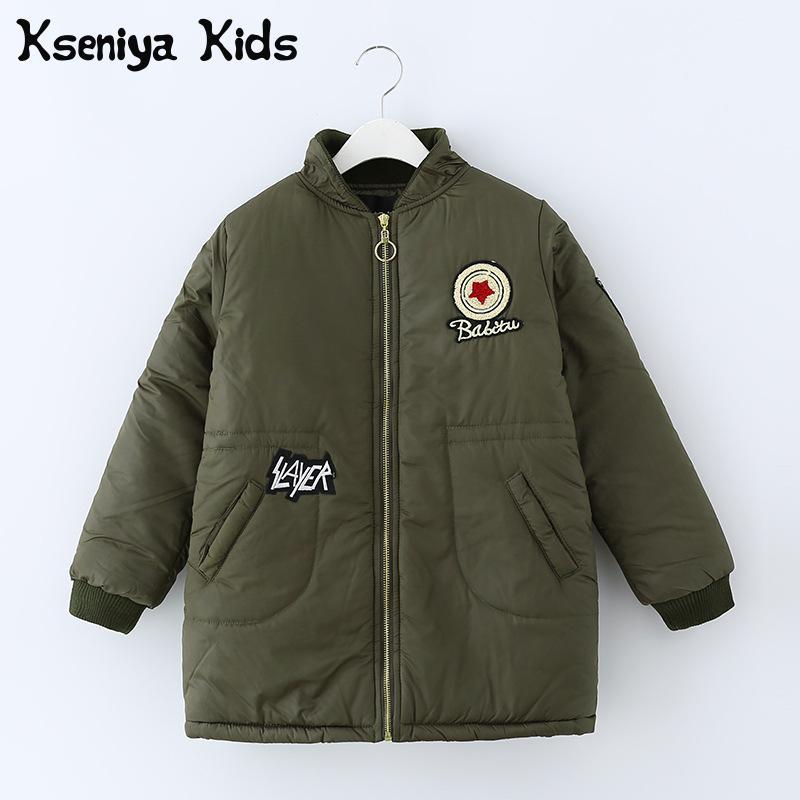 купить Kseniya Kids Big Girls Winter Coat Casaco Inverno Menino Children Outerwear Winter Jackets Coats недорого