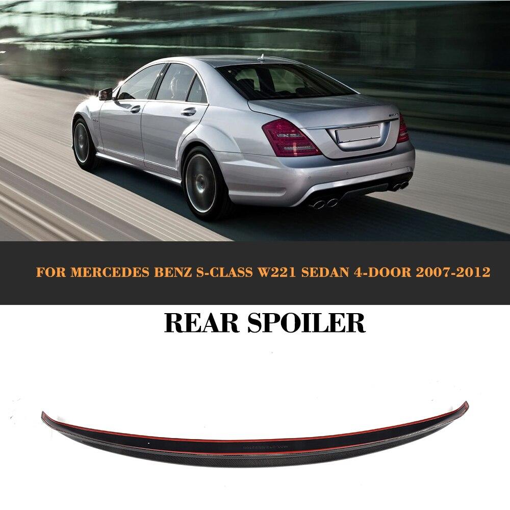 Carbon Fiber AMG Style Rear Trunk Spoiler for 07-13 Mercedes W221 S-Class Sedan