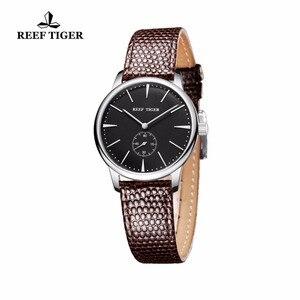 Image 4 - リーフ虎/rtカジュアルカップル腕時計シンプルなスタイルクォーツ腕時計女性のための超薄型ステンレスダイヤルRGA820