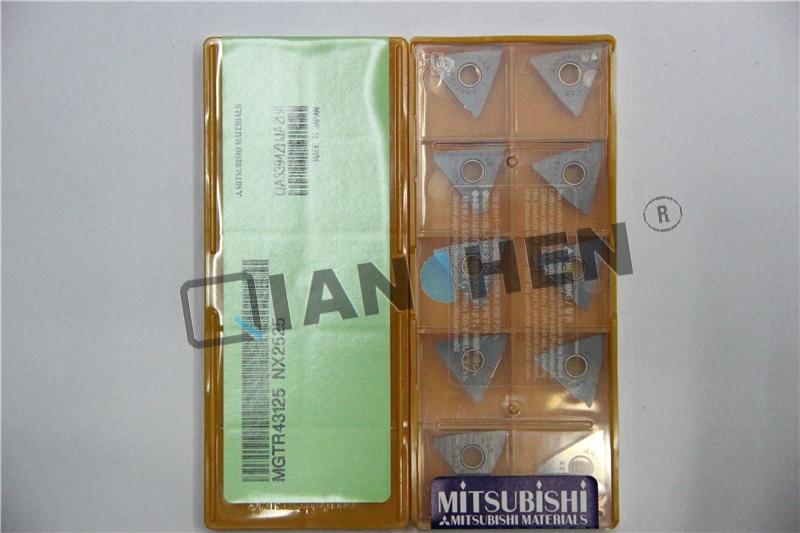 Mitsubishi 10pcs/lot MGTR43125 NX2525 CNC inserts,Face Mill Lathe Tools cutter CNC tool full face pcd inserts rngn0904