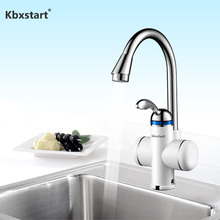 Electric Kitchen Water Heater Tap Instant Hot Faucet Tankless Instantaneous Cold Heating Under or Side Flow
