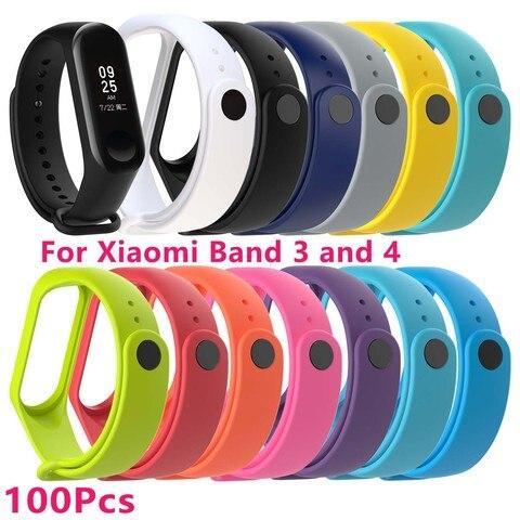 Pulseira para Xiomi Xiaomi Banda Silicone Pçs – Set Xaiomi Xiami Xaomi Xaiomy Smartband Dropshiping Atacado 100 3 4 Mod. 129126