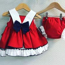 Летнее красное платье на бретелях для маленьких девочек+ шорты-пачки, комплект одежды из 2 предметов