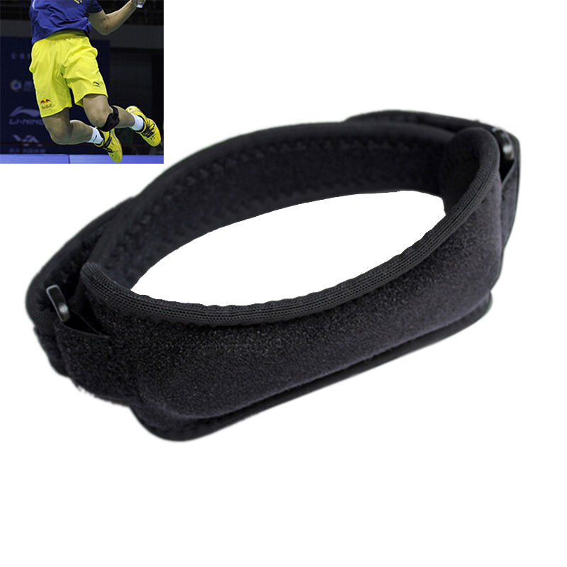 1Pc Black Adjustable Patella Knee Tendon Strap Protector Guard Support Pad Belted Sports Knee Brace