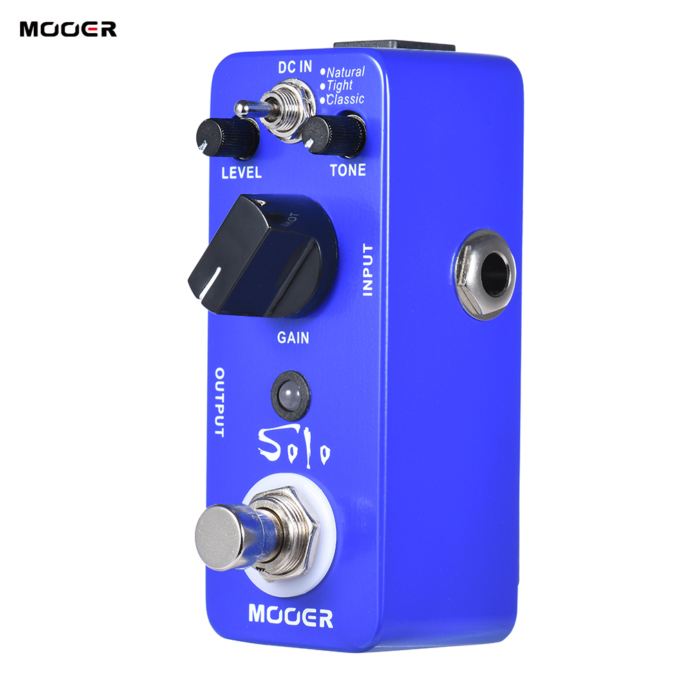 mooer guitar pedal solo distortion guitar effect pedal high gain true bypass full metal shell. Black Bedroom Furniture Sets. Home Design Ideas