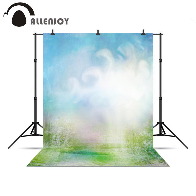 Allenjoy photography backdrops Cloud sky grass bokeh blur baby photo backdrop backgrounds background vinyl 300 600cm 10ft 20ft backgrounds backdrop wedding photography backdrops grass covered door photography backdrops