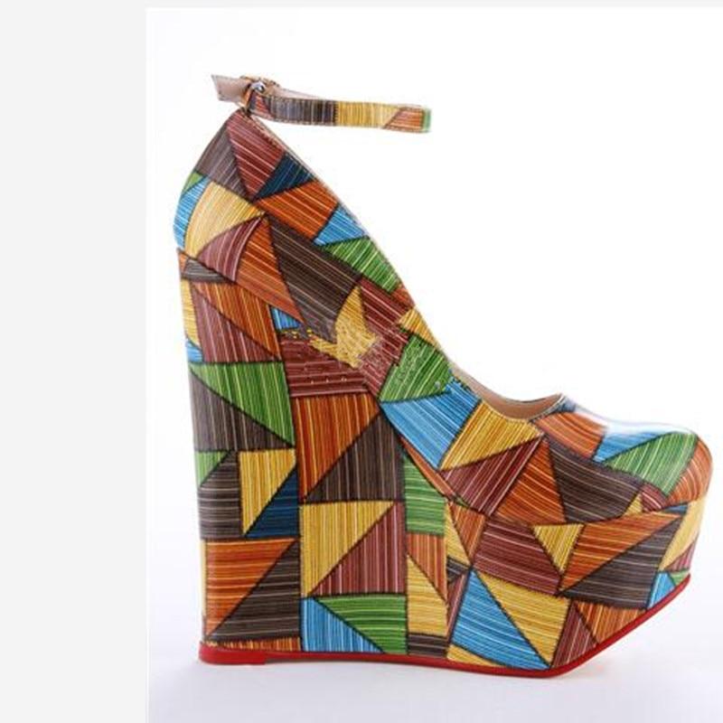 Negro Talón La Cm Tamaño Shoes 34 Bombas Manera Pie Shofoo Cuña Redondas Cuero 45 Tela multiple 5 Elegant Del De 14 Dedo Libre Envío Color Multi aqSwExO1w