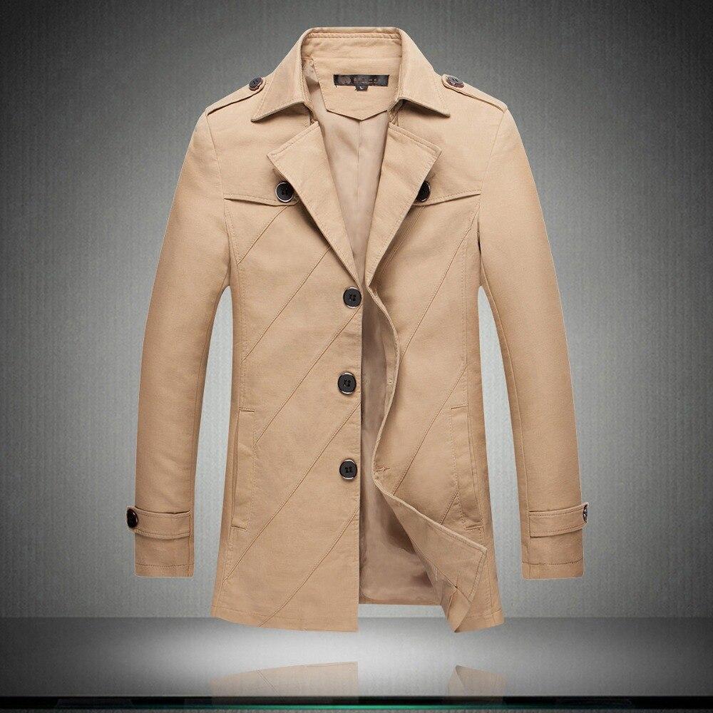 Autumn Spring New Plus Size 3XL 4XL 5XL Red Khaki Black Stripe Long Trench Coat Men Suit Blazers Men Long Jacket