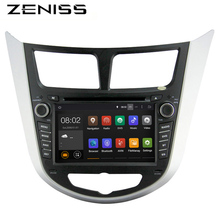 Free shipping Android Car GPS For Hyundaii Solaris Accent Verna with Stereo Audio Car 2din DVD for Solaris Navigation DVR OBD