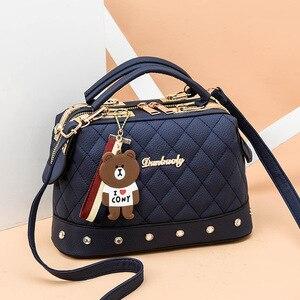 Image 5 - 2019 bolso de mujer de otoño e invierno tendencia nuevo bolso pequeño Diagonal de un solo hombro bolso femenino de moda Bolso pequeño cuadrado