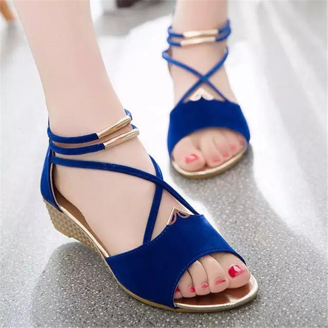 Women Flats Ankle-Strap Sandals