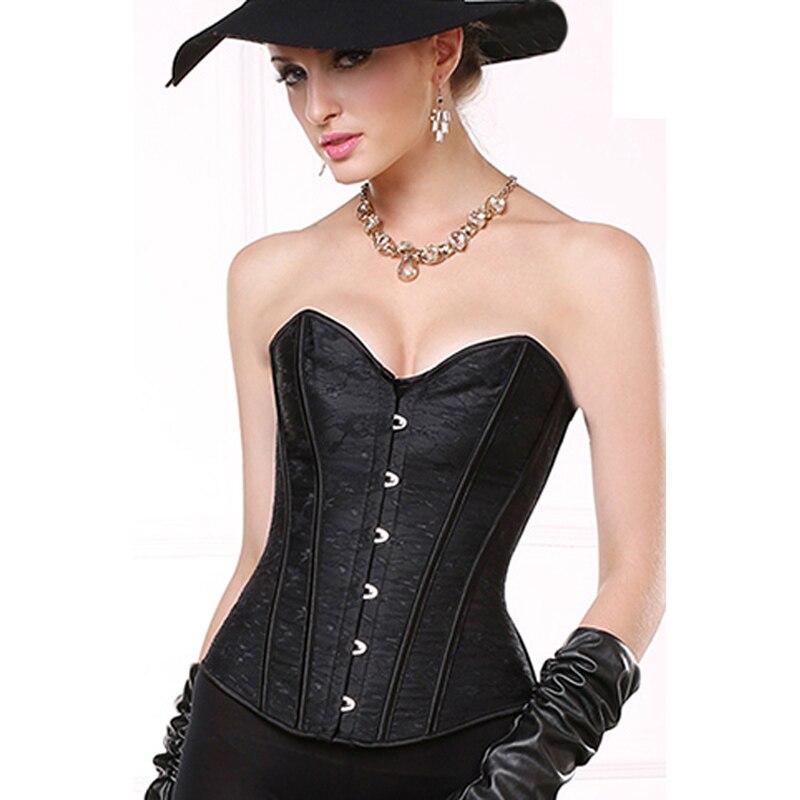 8d9ff15675 Big size gothic women black strapless corset underwear steampunk jpg  800x800 Corset big size